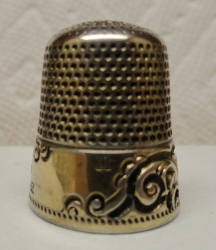 KETCHAM & McDOUGALL STERLING SILVER WITH GOLD BAND, VERY NICE AND SIZE 11