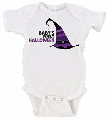 Baby's First Halloween Happy Halloween Gerber Onesie Witches Hat