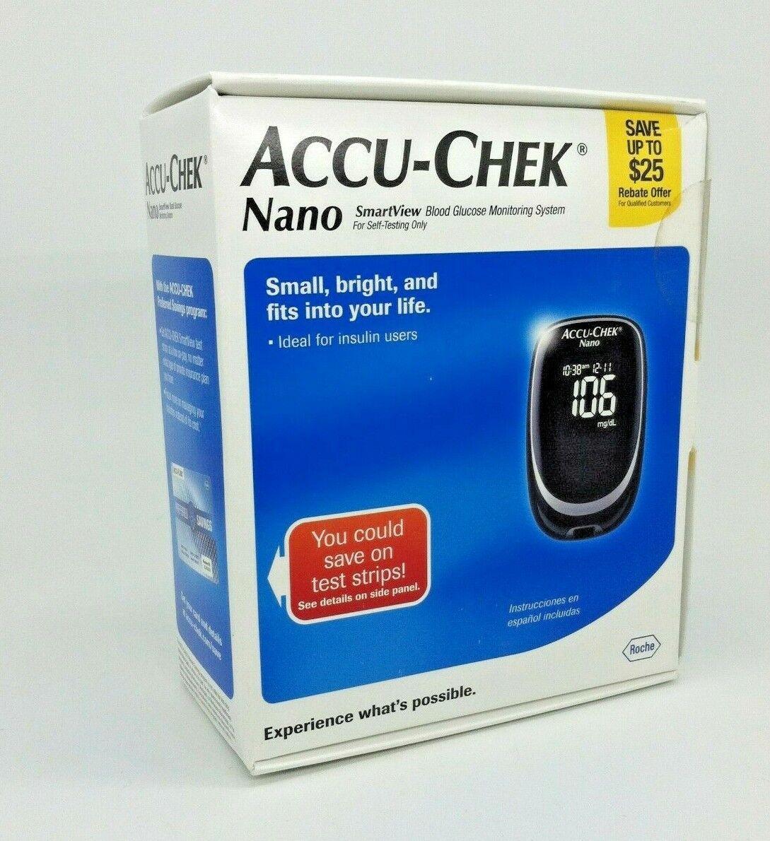 ACCU-CHEK Nano SmartView Blood Glucose Monitoring System 1 E