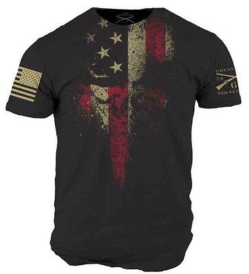 American Reaper T Shirt   Grunt Style Military Mens Black Graphic Tee Shirt