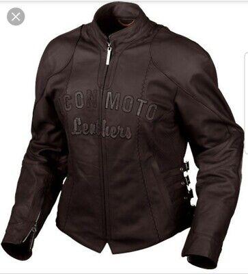 Icon Bombshell Jacket Leather Black Icon Motorcycle Womens Sz S ()
