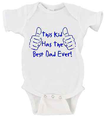 This Kid Has The Best Dad Ever Father's Day Onesie Short Sle