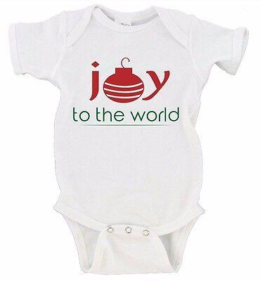 joy to the world merry christmas onesie