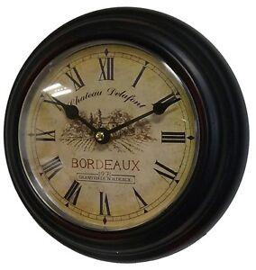 style ancienne petite horloge pendule de cuisine campagne bureau d entr e 21cm ebay. Black Bedroom Furniture Sets. Home Design Ideas