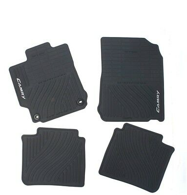 Front and Rear Black All Weather Rubber Floor Mats Genuine For Camry 12 14