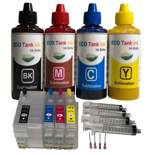 Eco Tank Ink Sublimation Ink Kit 400ml for WF 7720  WF 7210 Empty Mug or Shirt
