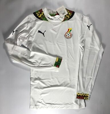 89d936756 2014 15 Ghana Player Issue Long Sleeve ACTV Fit Jersey Size Large NWT Puma