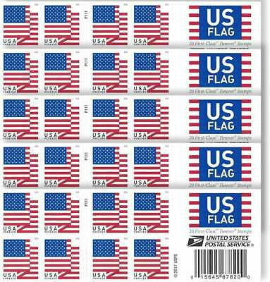 20 Brand New Unused USPS Forever Postage Stamps ~ No Expiration ($11 VALUE)