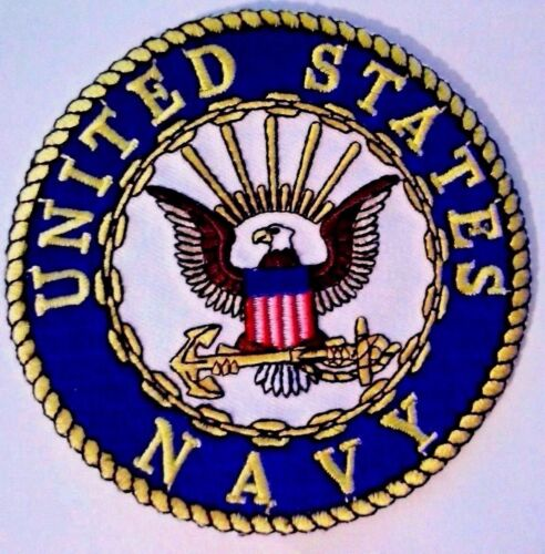 """U.S. Navy Patch 3"""" Iron on or Sewn on"""