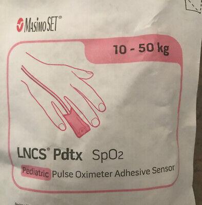 Masimo Set Lncs Pdtx Spo2 Pulse Oximeter Adhesive Pediatric Sensor Lot Of 3.