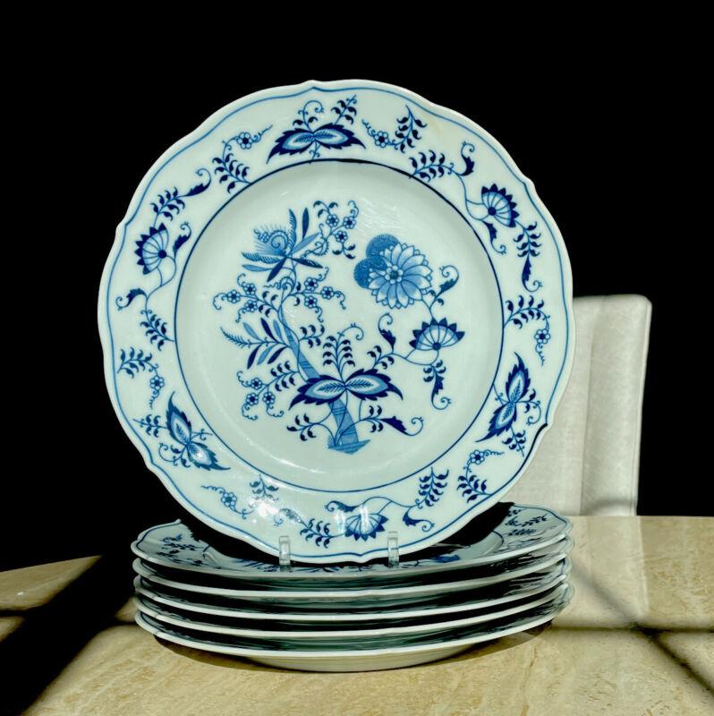 """6 Blue Danube Dinner Plate 10 1/4"""""""