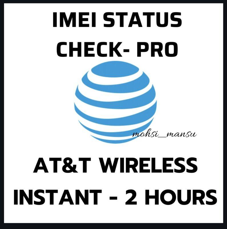 ATT AT&T USA IMEI  STATUS CHECK SERVICE - PRO