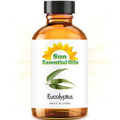 Best Eucalyptus Essential Oil 100% Purely Natural Therapeutic Grade 4oz