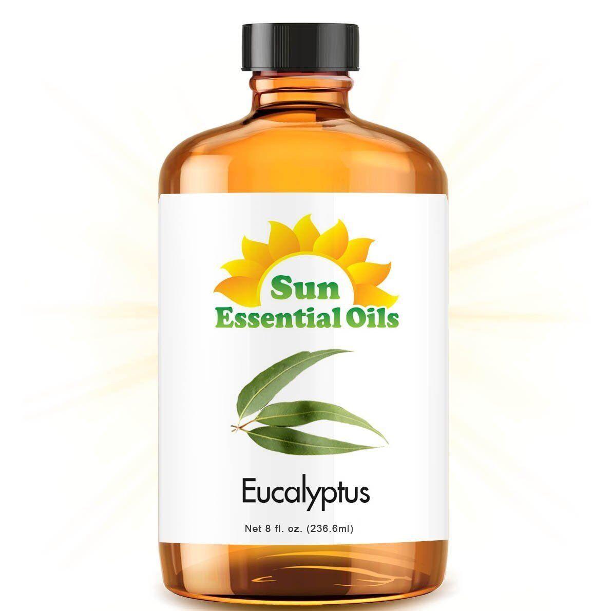 Eucalyptus Essential Oil  100% Pure Amber Bottle + Dropper