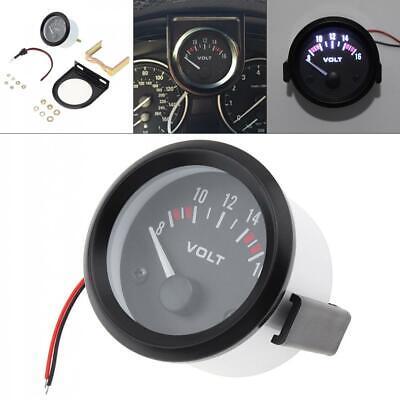 2 52mm Led 8-16v Voltmeter Universal Car Motorcycle Voltage Gauge Panel Meter