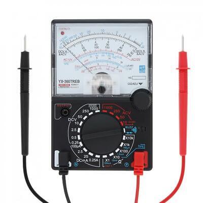 Analog Voltmeter Ammeter Ohmmeter Multimeter Volt Ac Dc Tester Meter W Test Pen
