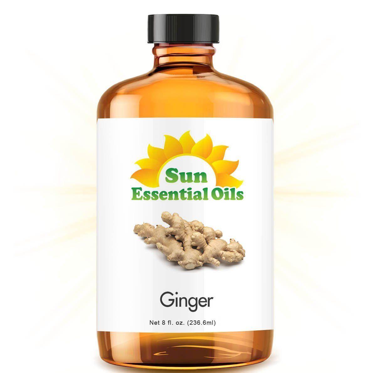 Ginger Essential Oil  100% Pure Amber Bottle + Dropper