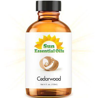 Cedarwood Essential Oil (Large 4oz) 100% Pure Amber Glass Bottle + Dropper