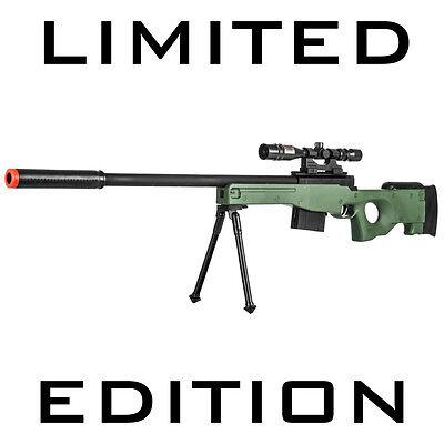 Toy Gun Airsoft Sniper Rifle w/Scope Bipod AWP Spring Bolt P2703G - Toy Rifles