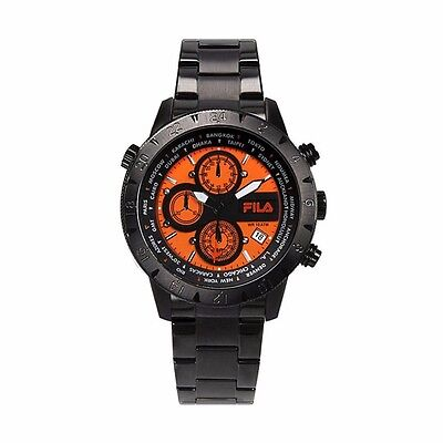 007 Stainless Steel Case - Fila Sports Men's Watch 38-007-005 Case Black Chronograph Stainless Steel Glass