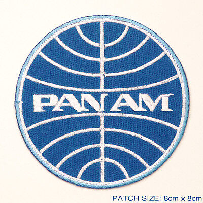 Pan Am   Classic 1960S Style Airlines Company Logo Embroidered Iron On Patch
