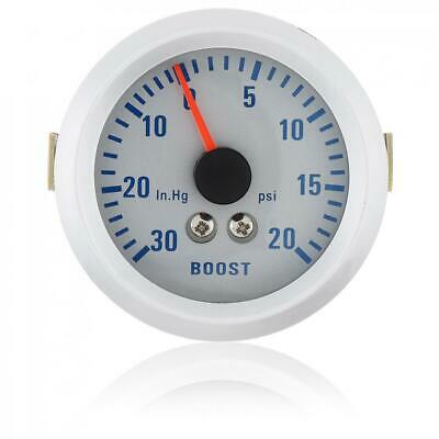 52mm LED Car Motor 30in.Hg/20 PSI Pressure Turbo Boost Pointer Dials Gauge Meter