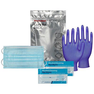 Honeywell Safety Pack Mund-Nasen-Schutz + Einmalhandschuhe + Hygiene-Tücher