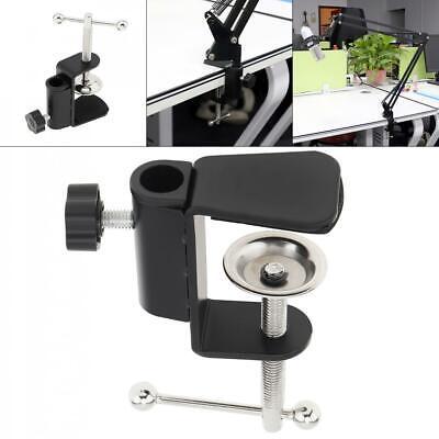 Work Office Desk Lamp Swing Arm Drafting Light Mic Clamp Holder Bracket Clip