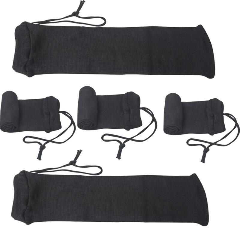 Tourbon 5 Packs Silicone Treated Handgun Socks Pistol Sleeve Protective Case USA