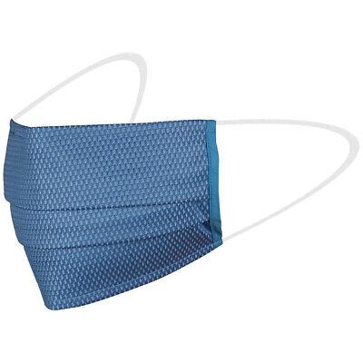 Topaz MAB2 Mundschutz - EN 14683 - Mund-Nasen-Maske ohne Nasenbügel - Blau