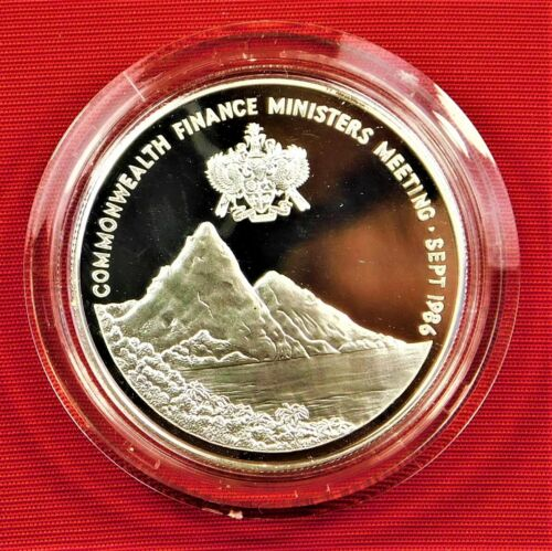 St. Lucia Silver Proof 1986 $10