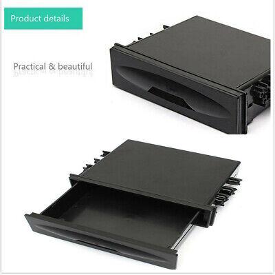 1X Black Cars Standard Single-disc One layer Machine Din Pocket Kit Storage Box -