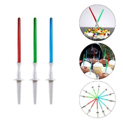 12pc Star Wars Light Saber Cake Cupcake Toppers Picks Birthday Party Decoration
