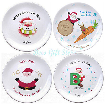 Ideas For Halloween For Kids (Personalised SANTA Mince Pie CHRISTMAS Eve Plate Gift Ideas for Kids XMAS)
