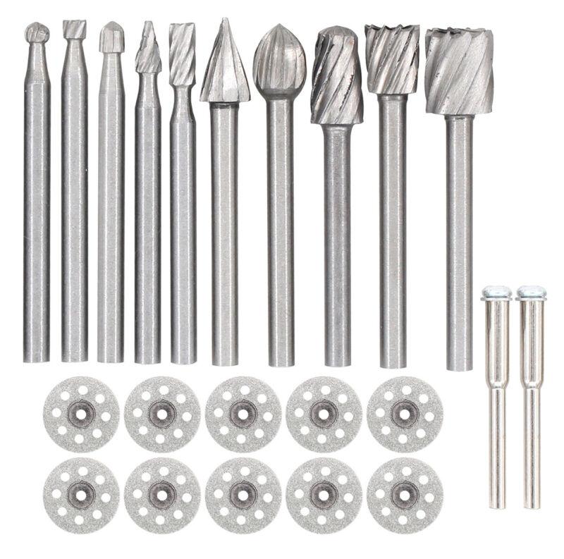 Tungsten Carbide Metal Cutting Carving Grinding Burr Bit Set For Dremel Tool