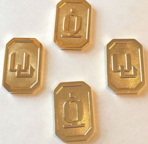 Battlestar Galactica BSG Cubits Currency (Set of 4) Licensed Reproduction