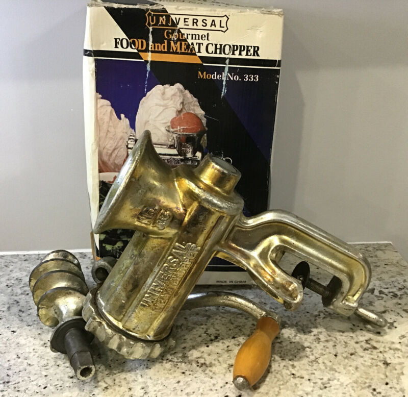 Universal Gourmet Meat Chopper Model No. 333 Complete