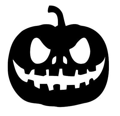 Pumpkin Halloween Spooky Haunted Removable Vinyl Wall Art Decal Sticker Decor - Halloween Wall Art