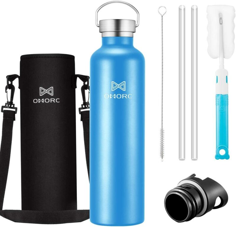 Stainless Steel 1000ml Water Bottle Vacuum Insulated Powerful Flask Reusable US