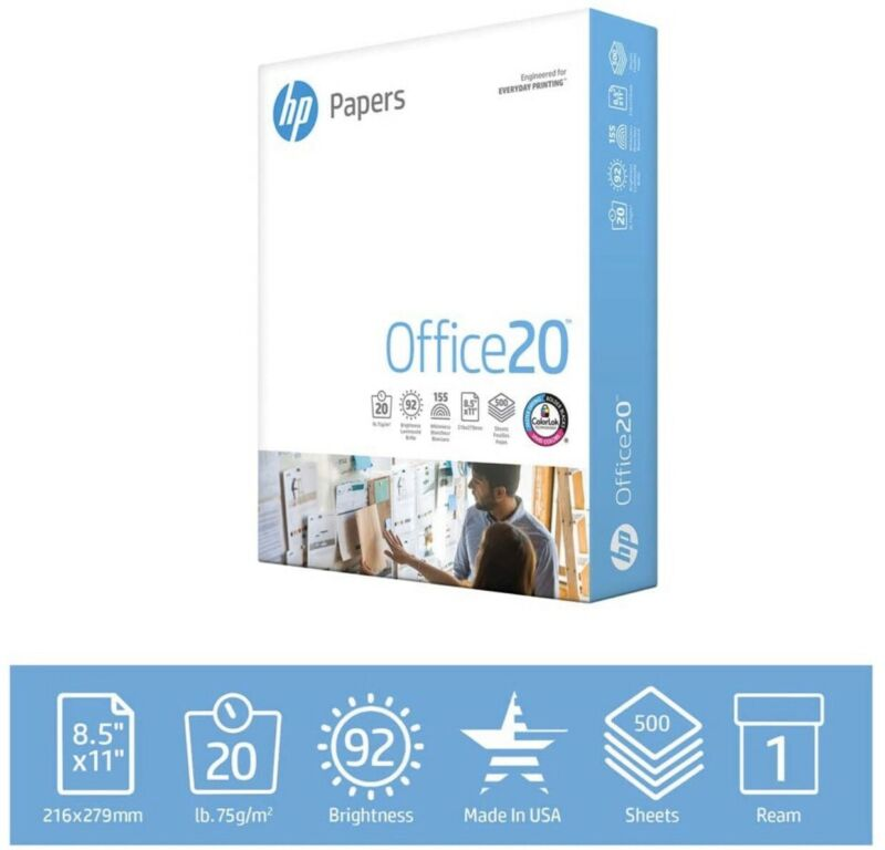 HP Printer Paper | 8.5x11 | 500 Sheets | Made In USA