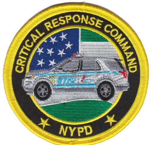 NEW YORK Police patch  (CRC CRITICAL RESPONSE COMMAND)