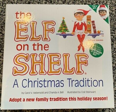 NEW The Elf on the Shelf: A Christmas Tradition Book & Girl Scout Elf