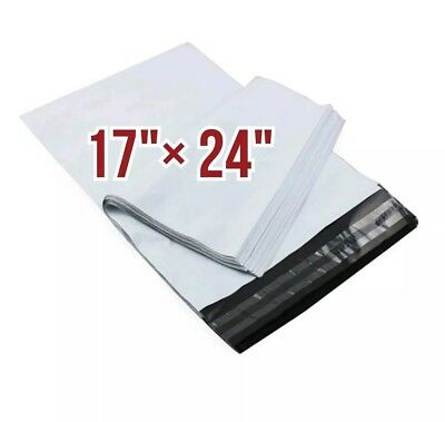 100 White Mailing Bags Postal Poly Bags Size 17