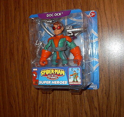 DOC OCK WITH SPINNING TENTACLE ACTION! Spider-Man and Friends Super Heroes RARE!