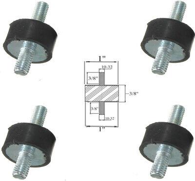 4 Rubber Vibration Isolator Mounts 1 Dia X 38 Thk 10-32 X 38 Long Stud