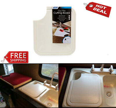 RV White Sink Mate Cutting Board for RV, Camper and Travel Trailer Kitchen Sinks