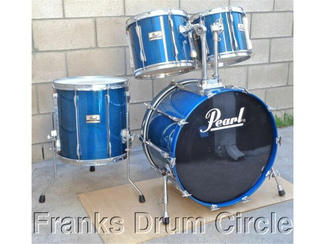 """Pearl BLX All Birch Shell Drum Set Sheer Blue 12"""" 13"""" Toms 16"""" Floor 24"""" Bass"""