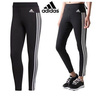 Adidas Leggings Womens Gym Yoga Pants Leggins 3 Stripes Ladies Joggers Running