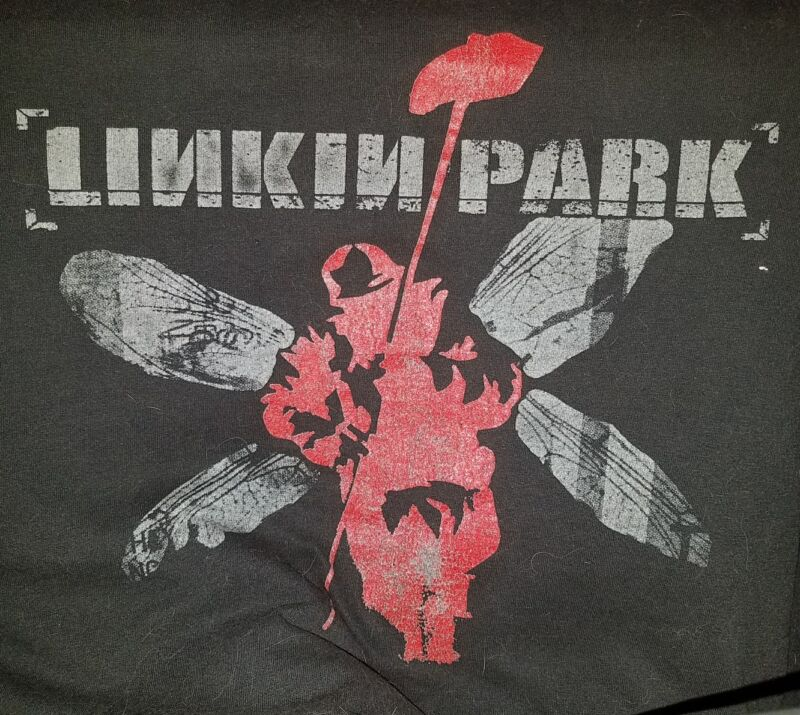 "LINKIN PARK 2001 ""THE END 107.7 DECK THE HALL BALL"" CONCERT T-SHIRT PRE-OWNED XL"