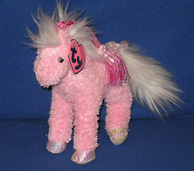 TY MINUET the PINKYS HORSE BEANIE BABY - MINT with MINT TAGS
